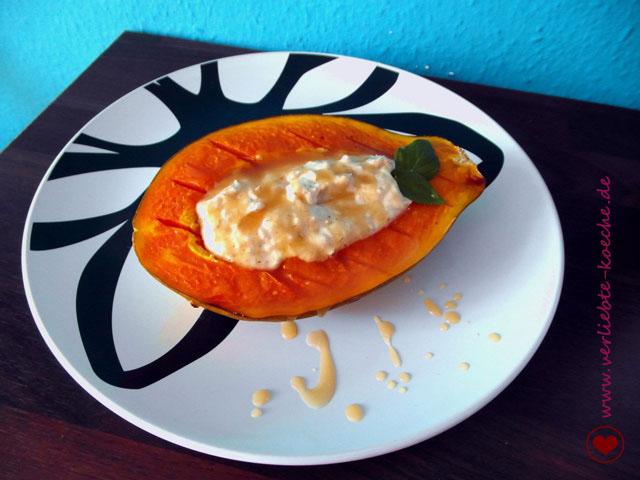 gebackene Papaya mit einer Mandel-Tonka-Creme